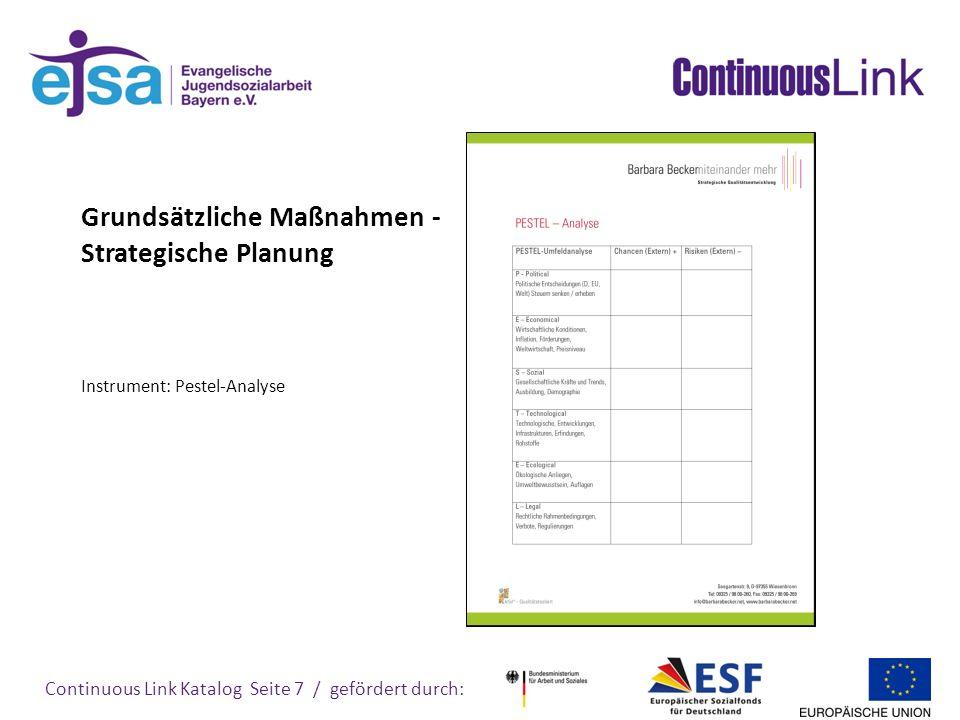 Grundsätzliche Maßnahmen - Strategische Planung