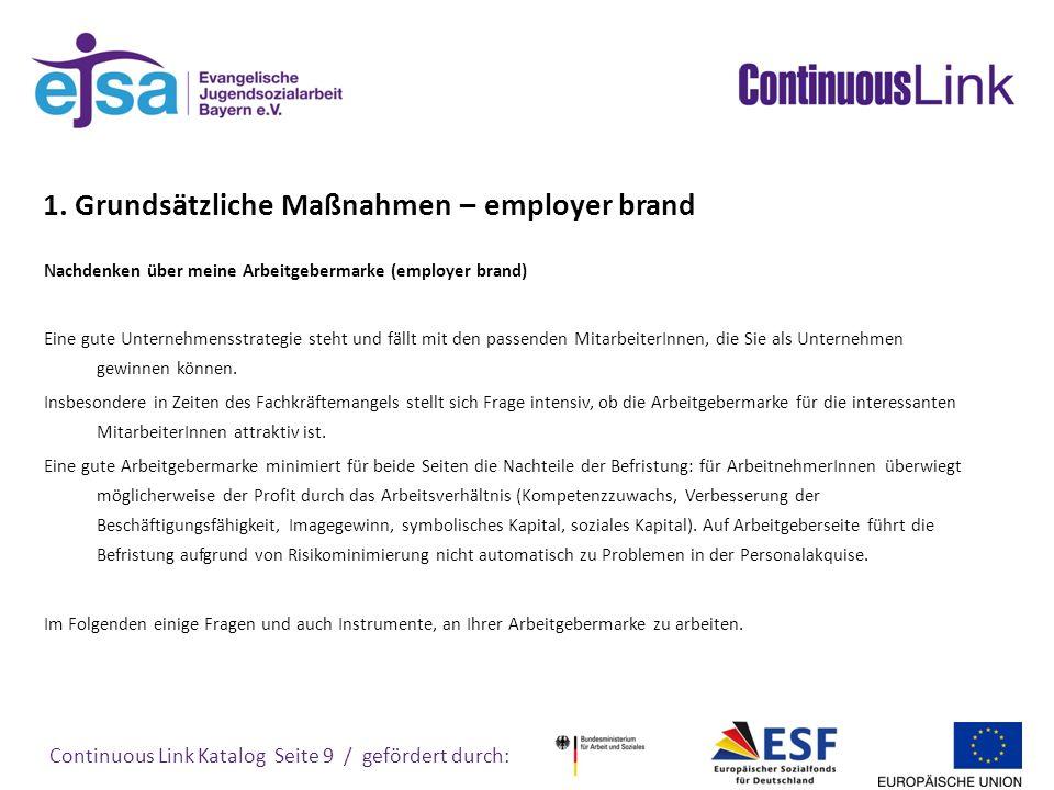 1. Grundsätzliche Maßnahmen – employer brand