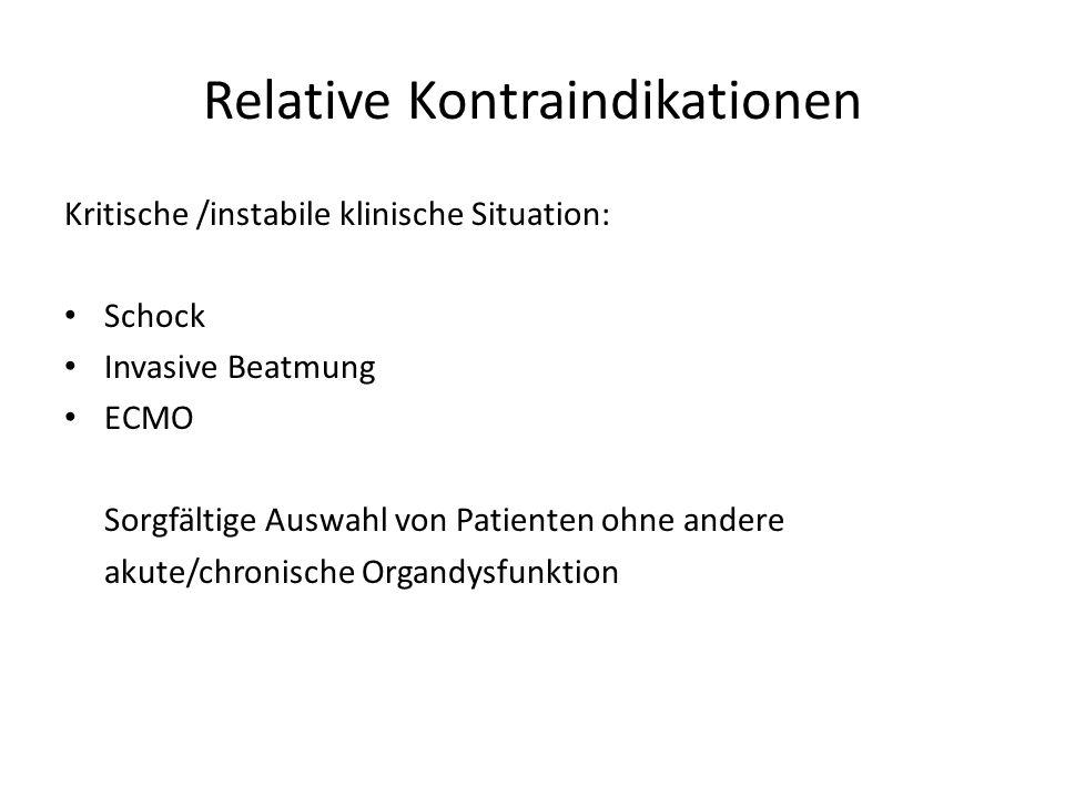 Relative Kontraindikationen