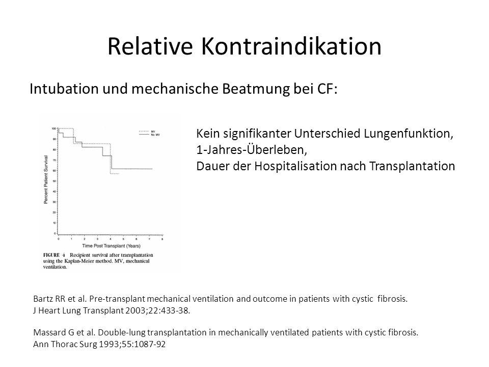 Relative Kontraindikation