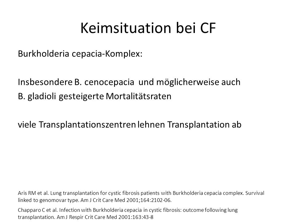 Keimsituation bei CF
