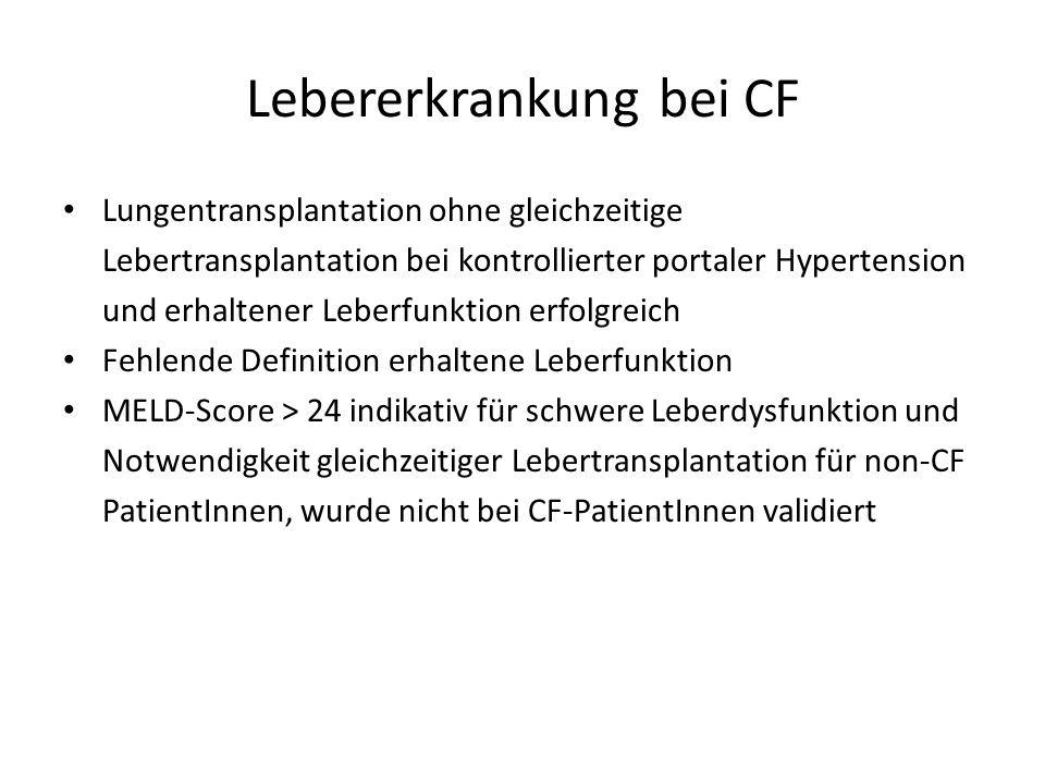 Lebererkrankung bei CF
