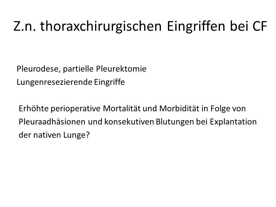 Z.n. thoraxchirurgischen Eingriffen bei CF