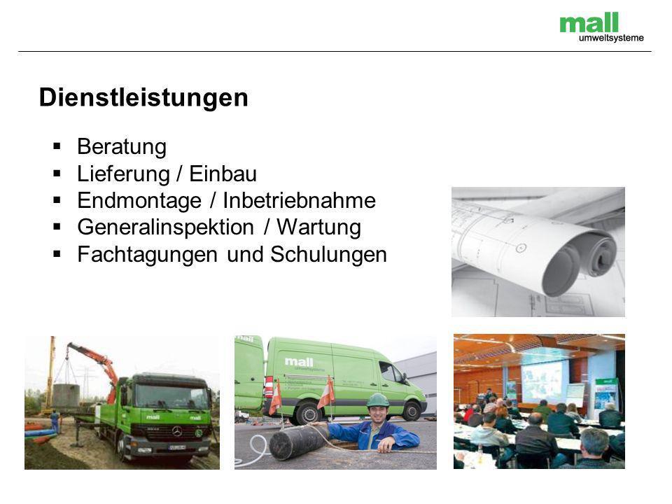 Dienstleistungen Beratung Lieferung / Einbau