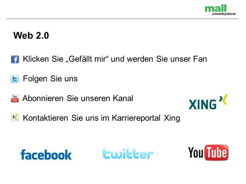 """Web 2.0 Klicken Sie """"Gefällt mir und werden Sie unser Fan"""