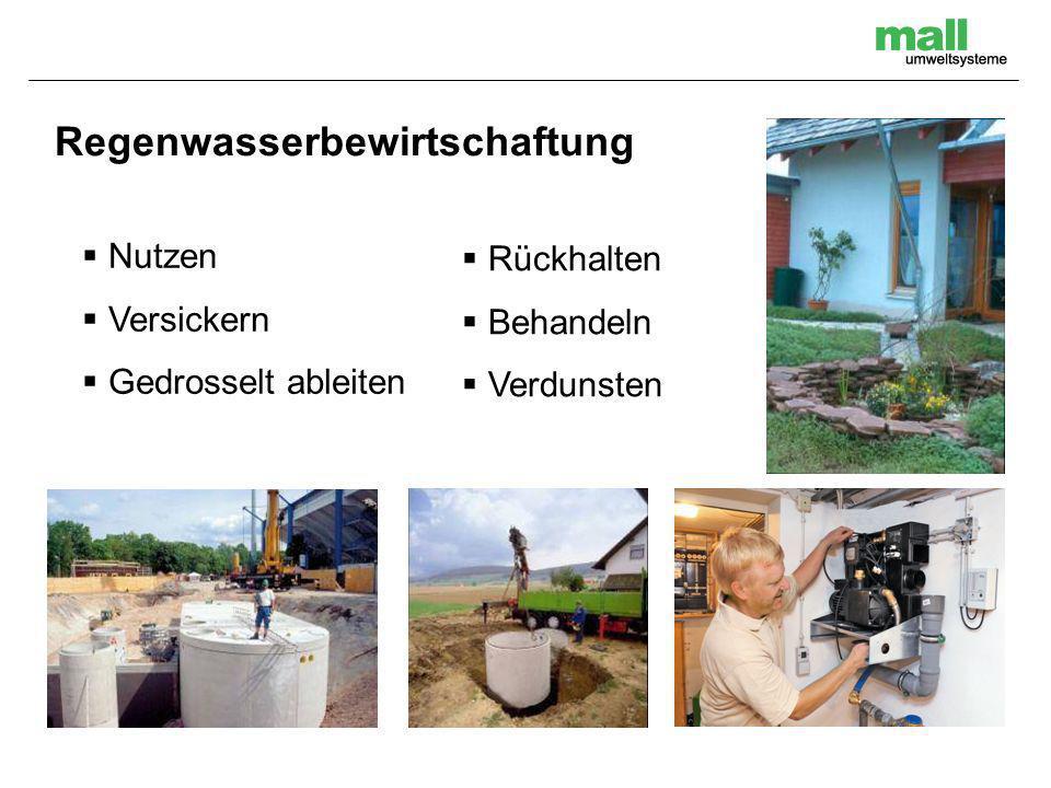 Regenwasserbewirtschaftung