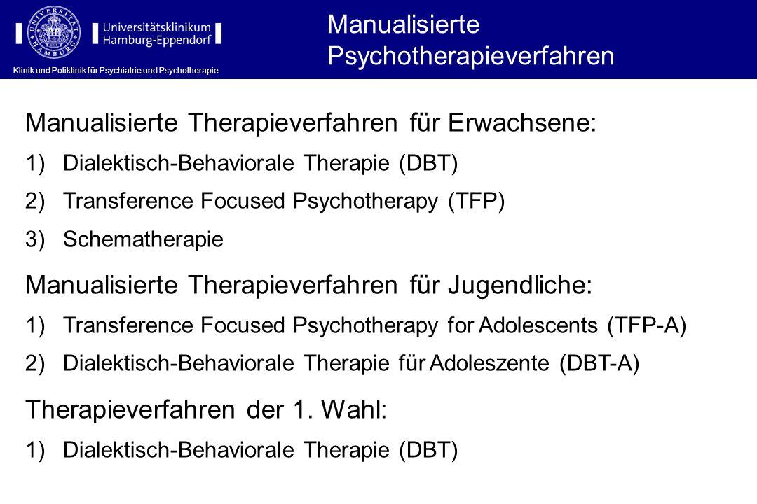 Manualisierte Psychotherapieverfahren