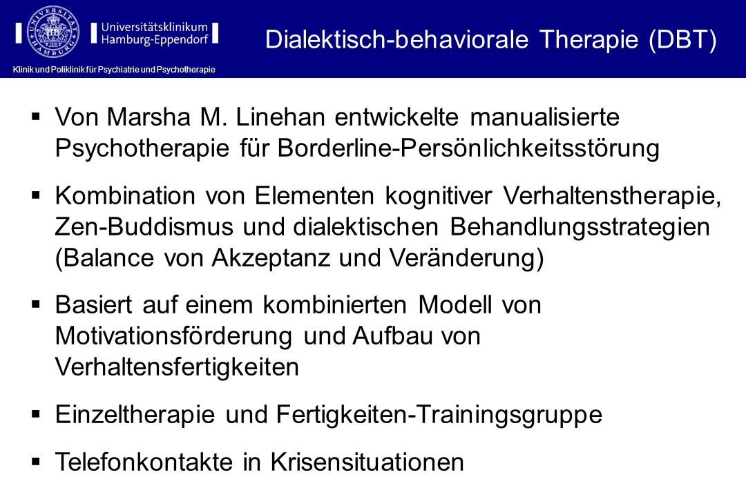 Dialektisch-behaviorale Therapie (DBT)