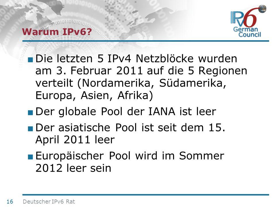Der globale Pool der IANA ist leer
