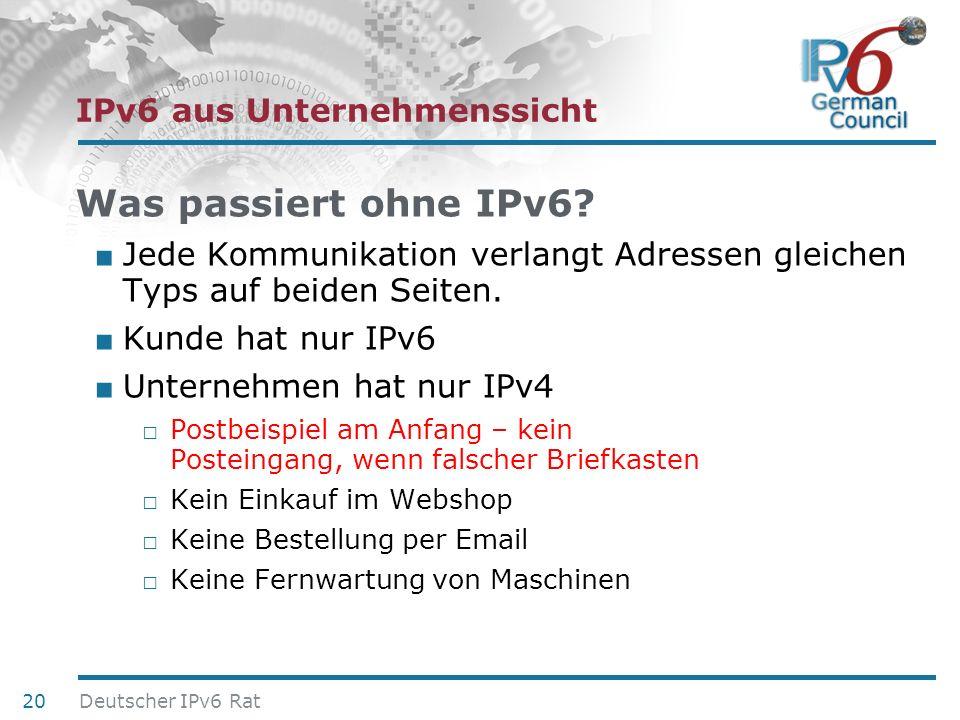 IPv6 aus Unternehmenssicht