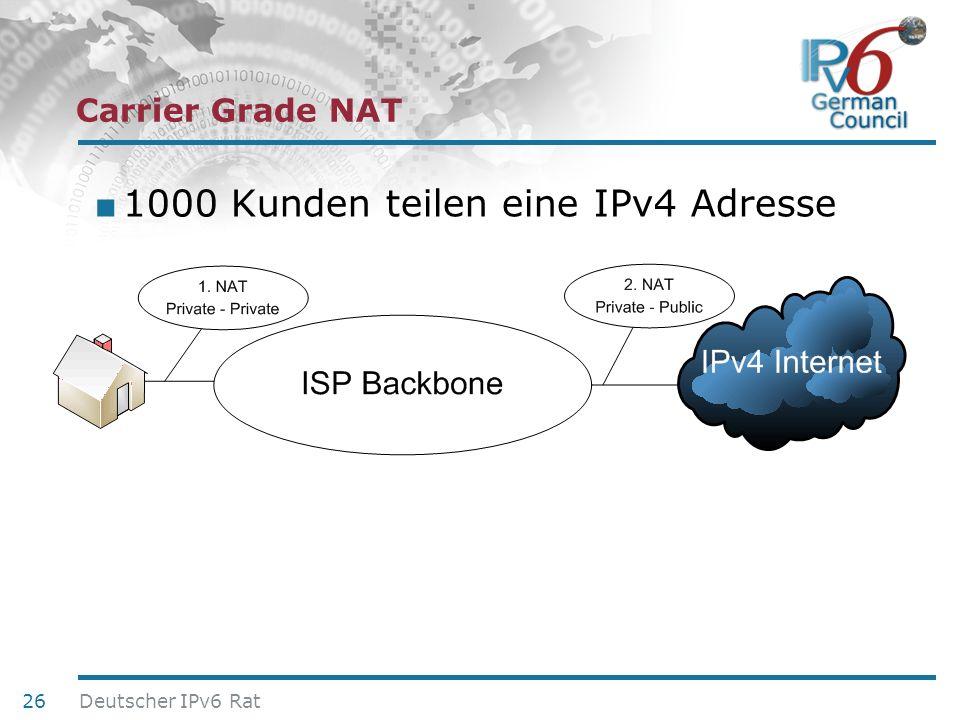 1000 Kunden teilen eine IPv4 Adresse