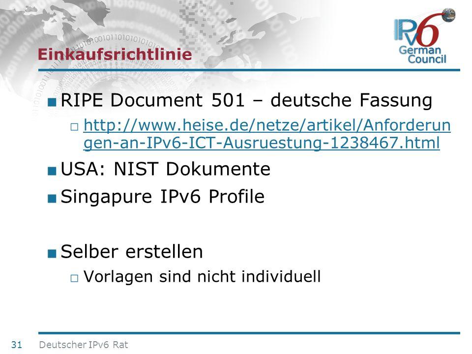 RIPE Document 501 – deutsche Fassung