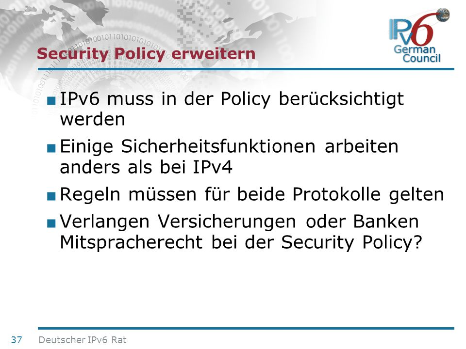Security Policy erweitern