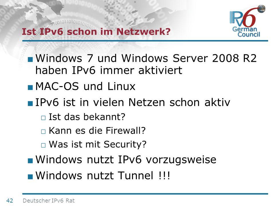 Ist IPv6 schon im Netzwerk