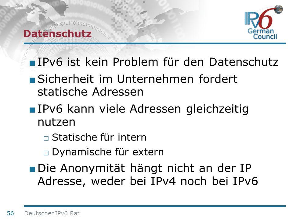 IPv6 ist kein Problem für den Datenschutz