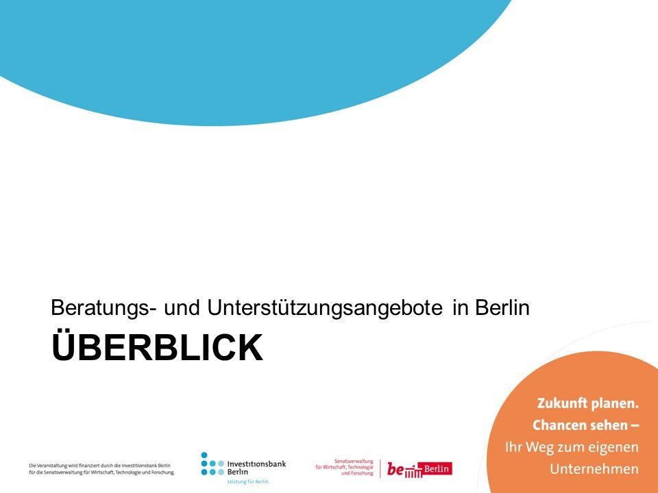 Beratungs- und Unterstützungsangebote in Berlin