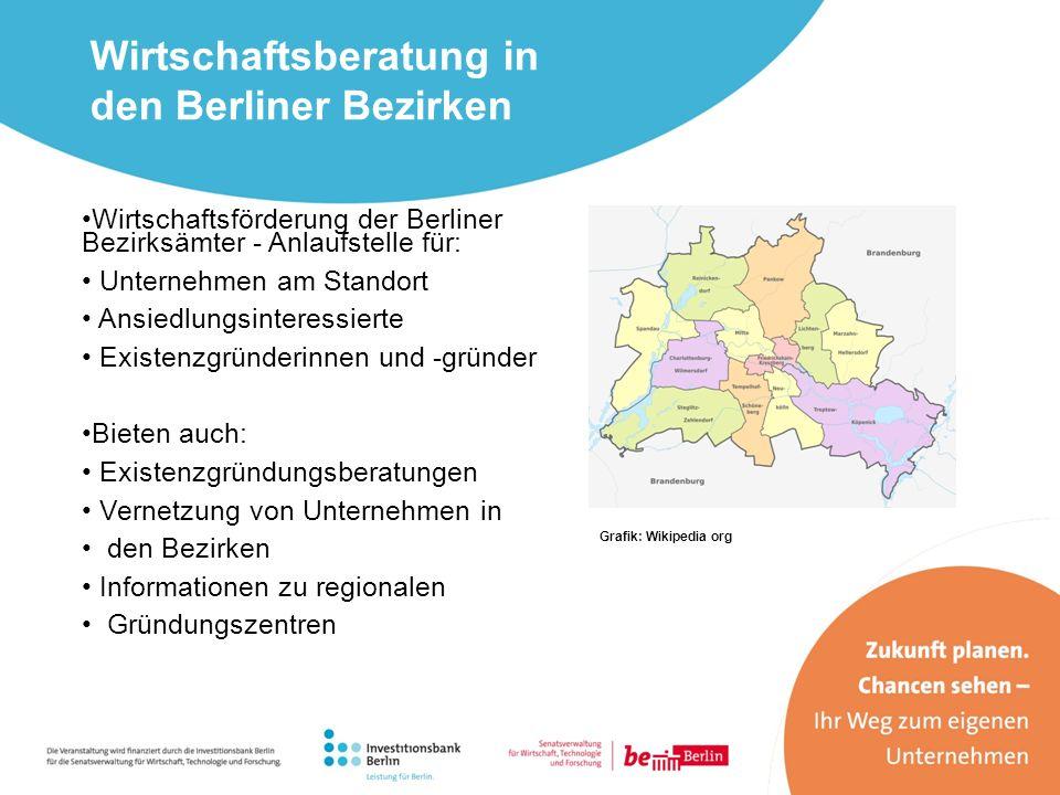 Wirtschaftsberatung in den Berliner Bezirken