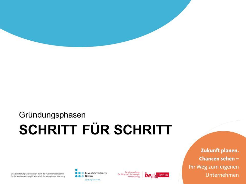Gründungsphasen SCHRITT FÜR SCHRITT