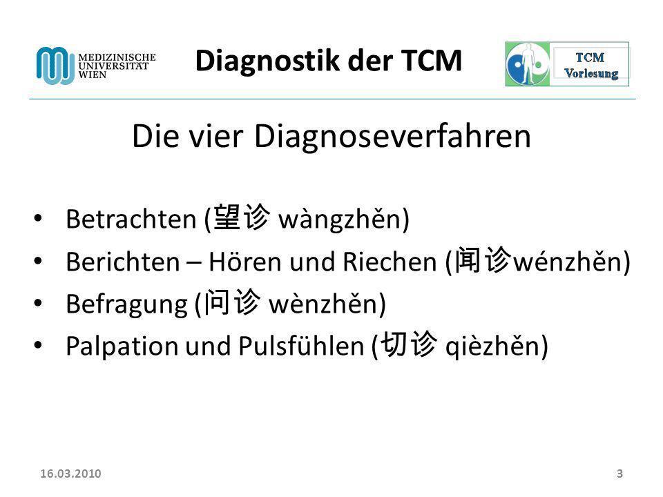 Die vier Diagnoseverfahren