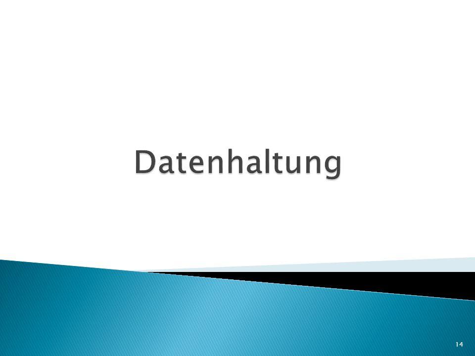 Datenhaltung