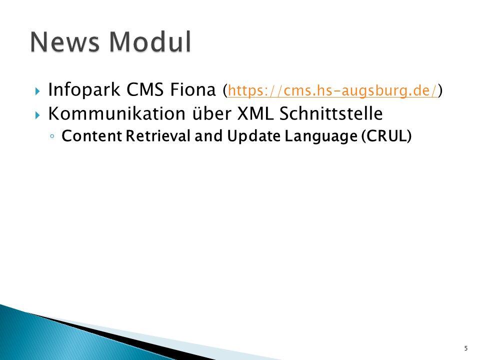 News Modul Infopark CMS Fiona (https://cms.hs-augsburg.de/)