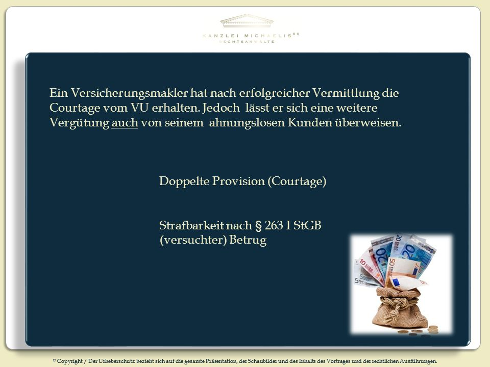 Doppelte Provision (Courtage)