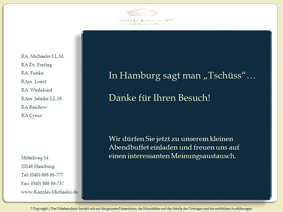 """In Hamburg sagt man """"Tschüss … Danke für Ihren Besuch!"""