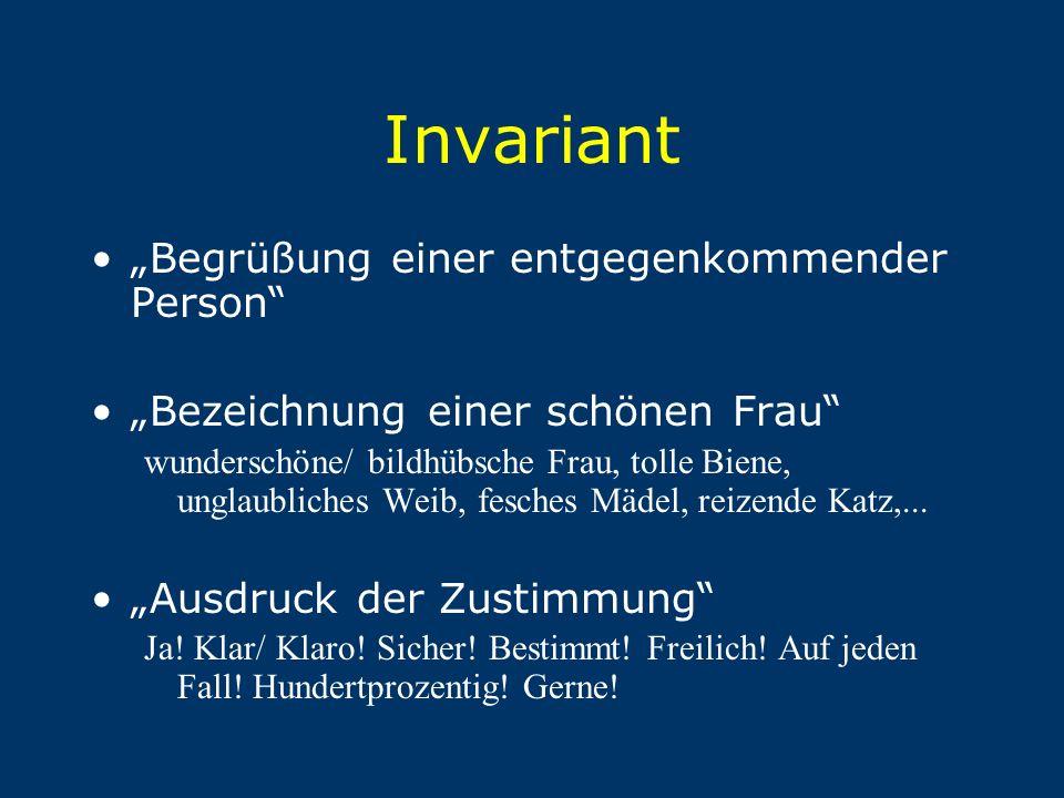 """Invariant """"Begrüßung einer entgegenkommender Person"""
