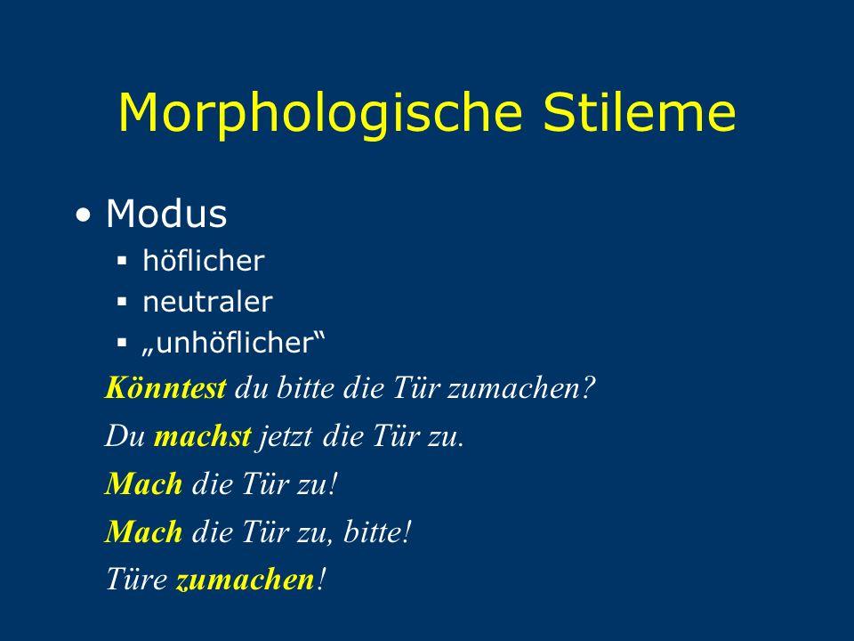 Morphologische Stileme