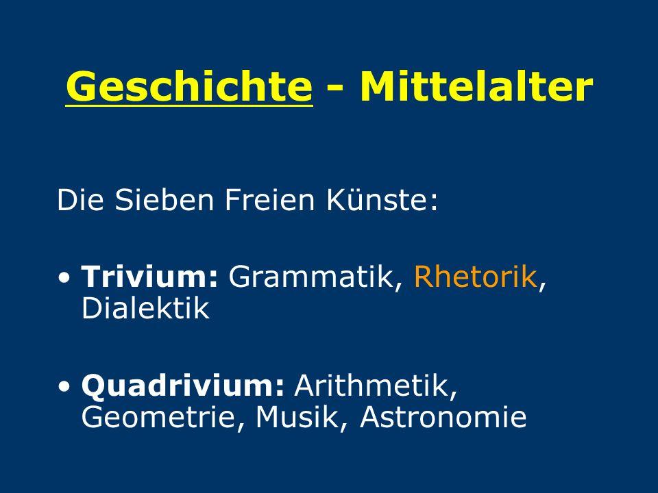 Geschichte - Mittelalter