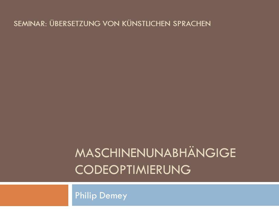 Maschinenunabhängige Codeoptimierung