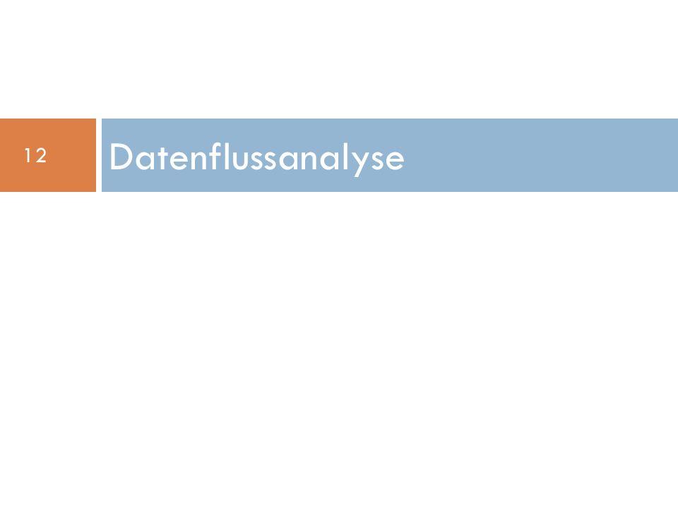 Datenflussanalyse