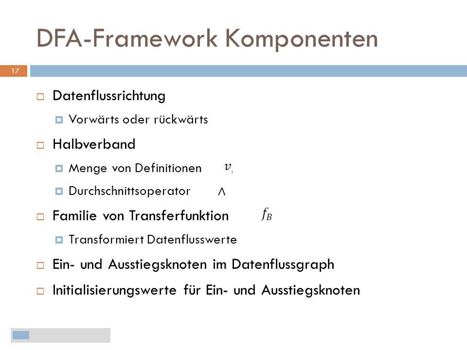 DFA-Framework Komponenten