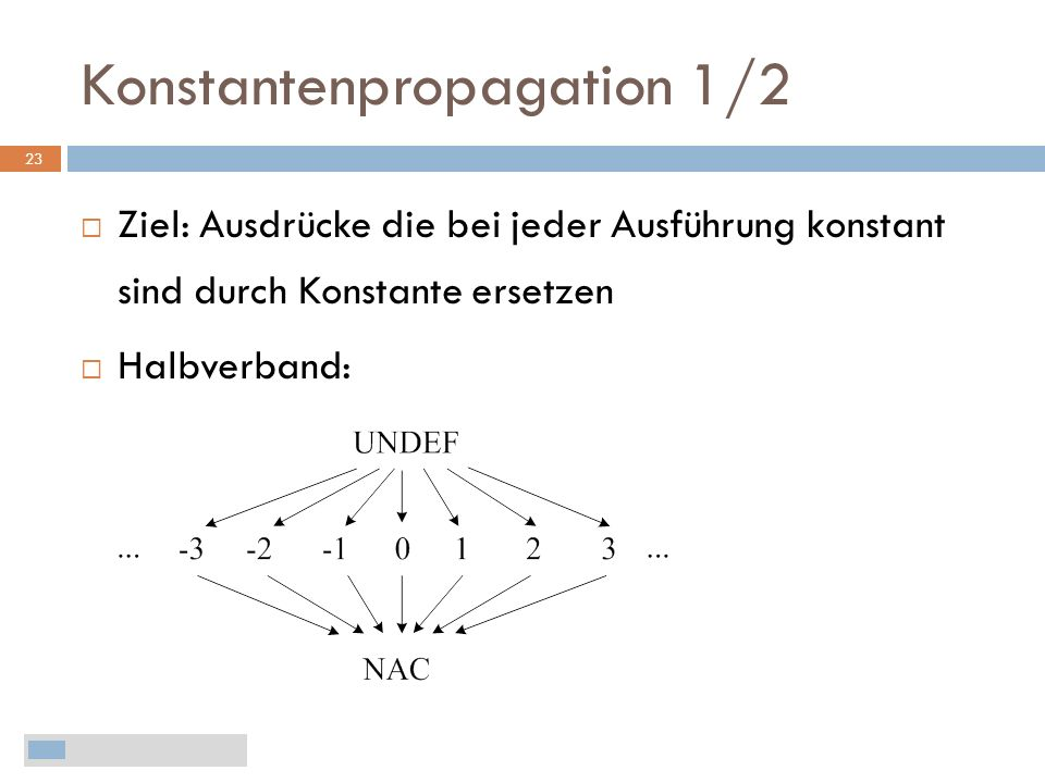 Konstantenpropagation 1/2