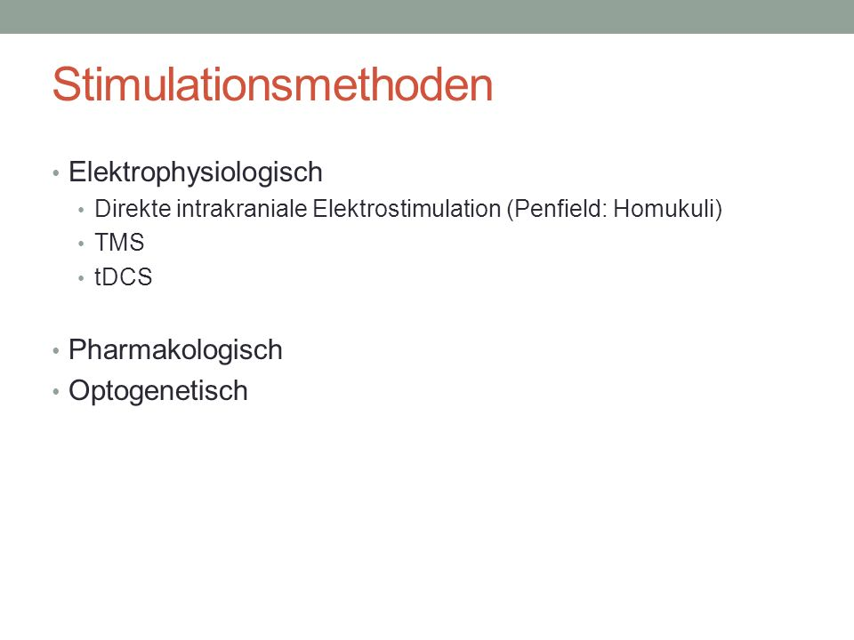 Stimulationsmethoden