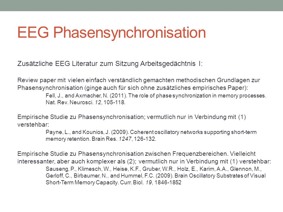 EEG Phasensynchronisation