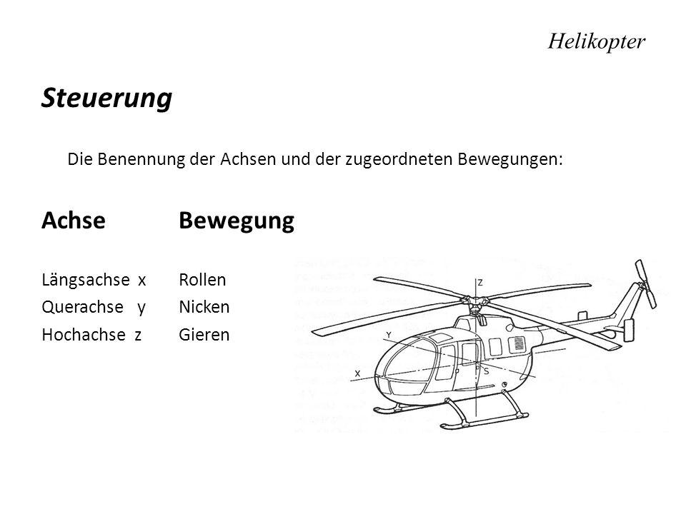 Steuerung Achse Bewegung Helikopter