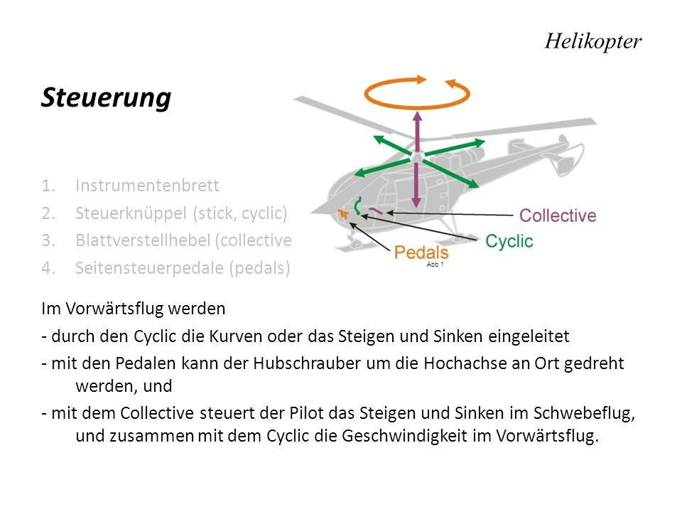 Steuerung Helikopter Instrumentenbrett Steuerknüppel (stick, cyclic)
