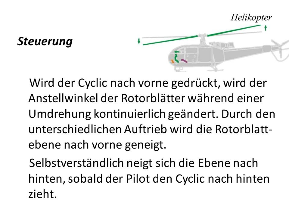 hubschrauber ein rotorblatt