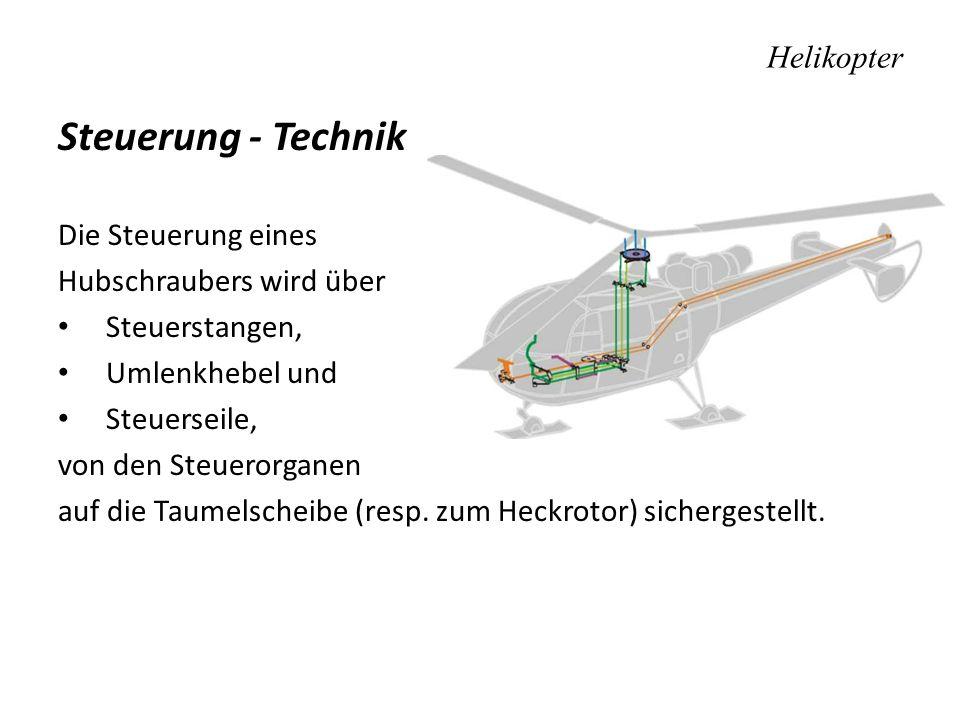 Steuerung - Technik Helikopter Die Steuerung eines