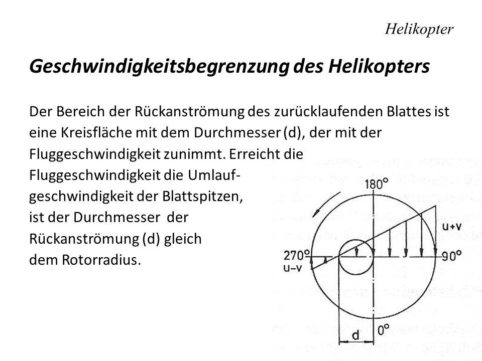Geschwindigkeitsbegrenzung des Helikopters