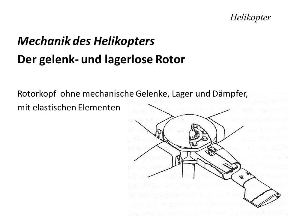 Mechanik des Helikopters Der gelenk- und lagerlose Rotor