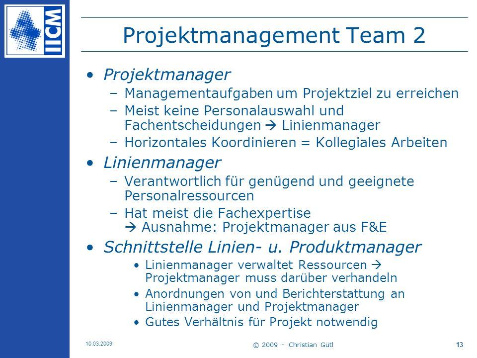 Projektmanagement Team 2