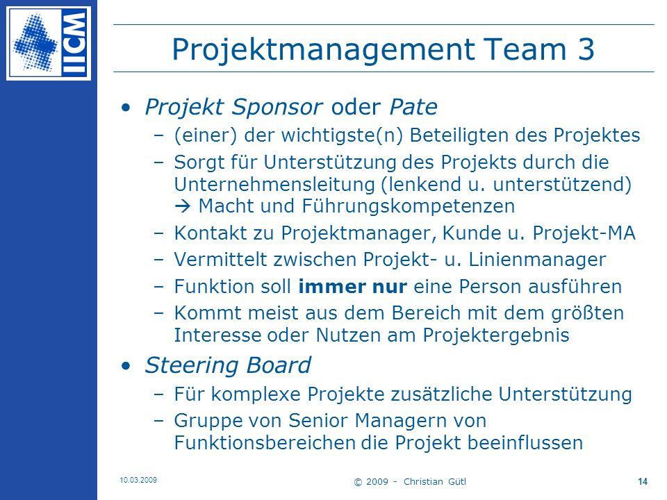 Projektmanagement Team 3
