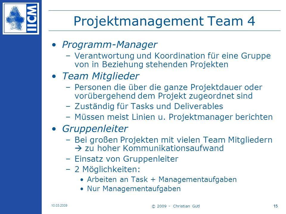 Projektmanagement Team 4