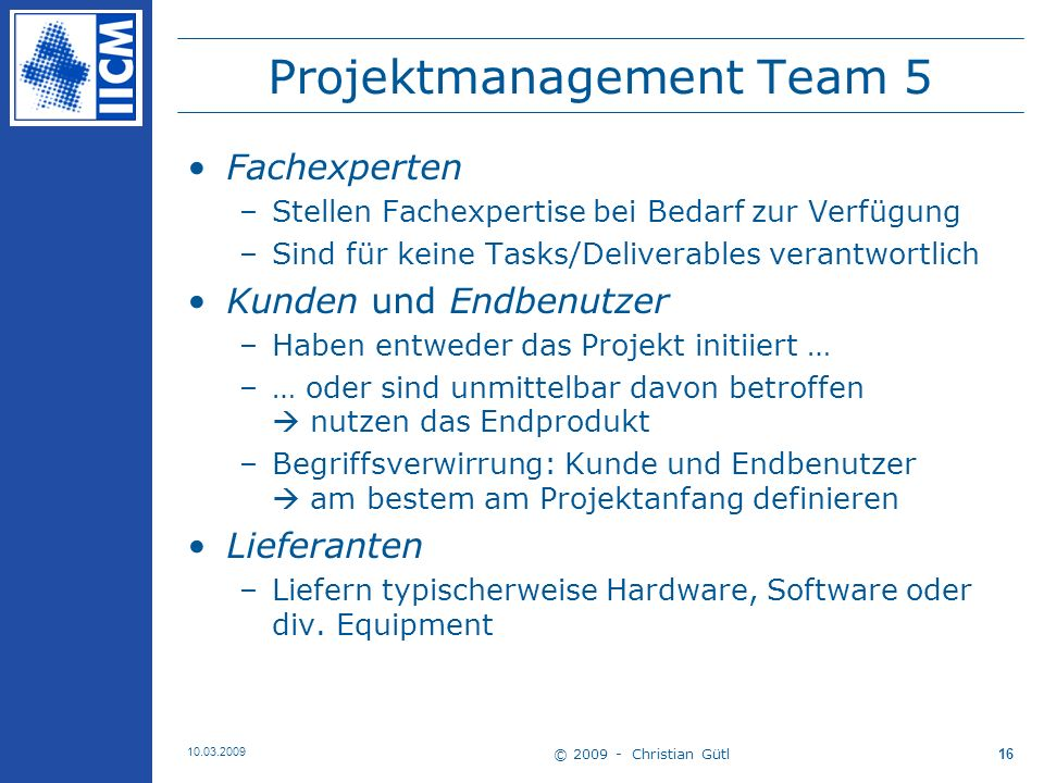 Projektmanagement Team 5