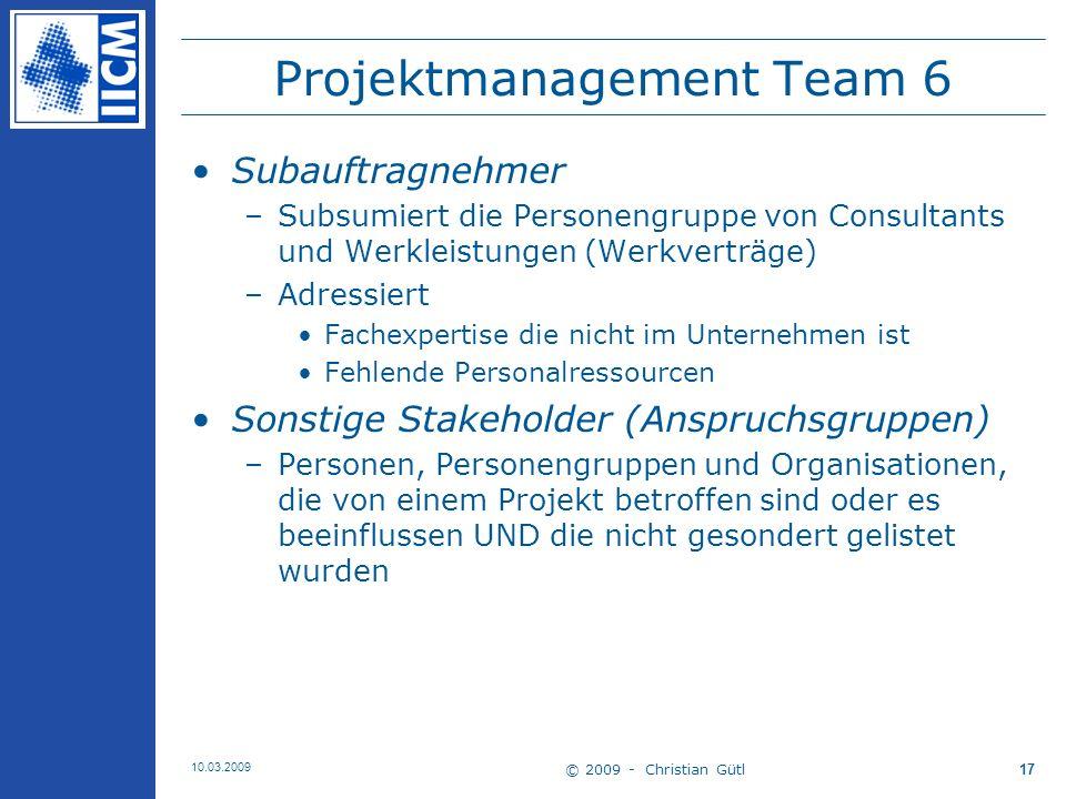 Projektmanagement Team 6