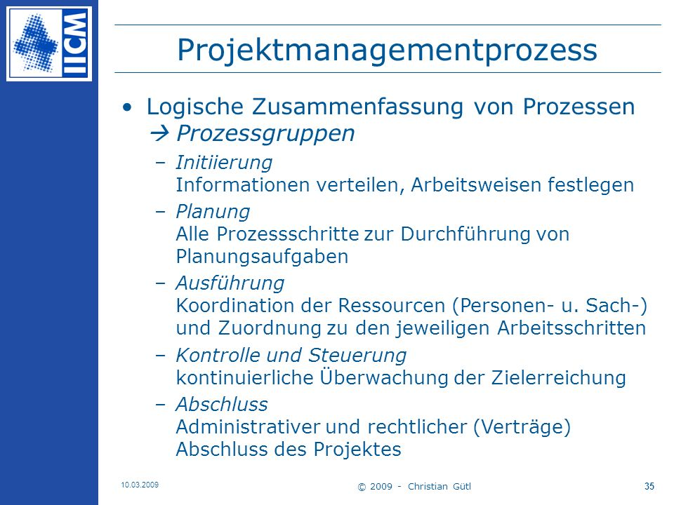 Projektmanagementprozess