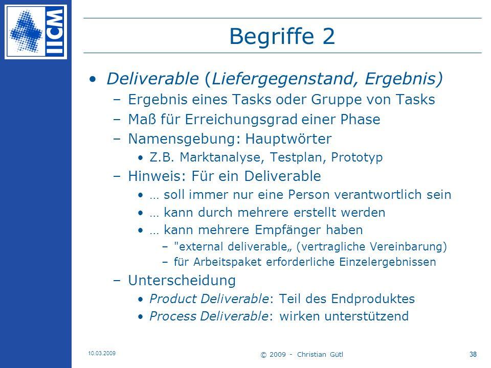 Begriffe 2 Deliverable (Liefergegenstand, Ergebnis)
