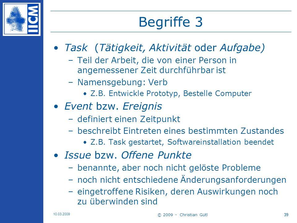 Begriffe 3 Task (Tätigkeit, Aktivität oder Aufgabe)